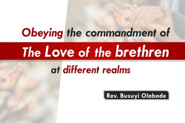 SMWT - Obeying the Commandment of Love of the Brethren at Different Realms - Rev. Busuyi Olabode