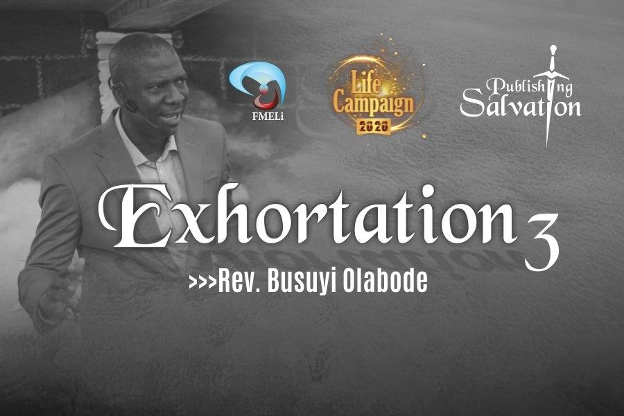 20. Exhortation - Rev. Busuyi Olabode