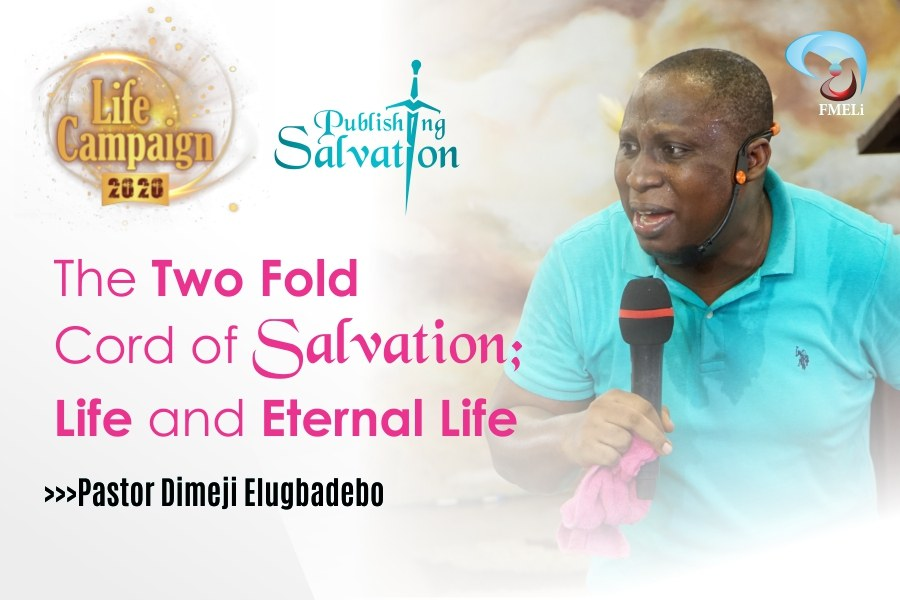 THE TWO FOLD CORD OF SALVATION LIFE AND ETERNAL LIFE